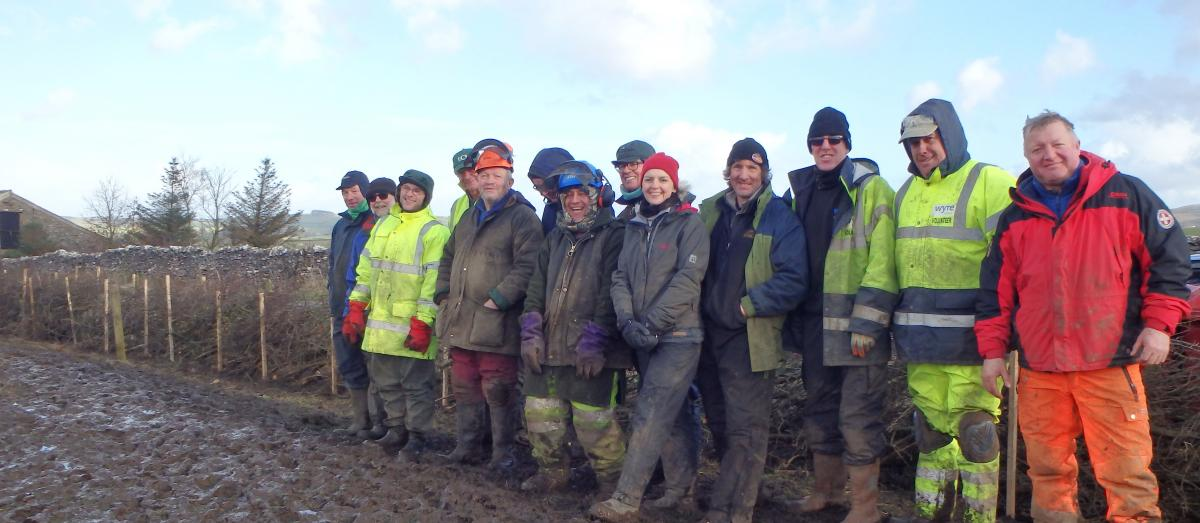 Burn House hedge laying group (Forest of Bowland AONB)