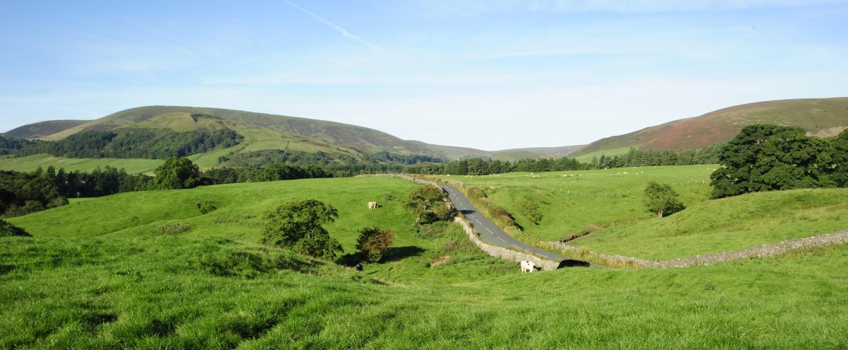 Outstandingly beautiful – the Hodder Valley in the Forest of Bowland near Dunsop Bridge.