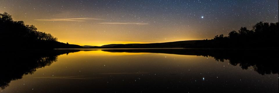 Night Sky at Stocks Reservoir by Matthew Savage