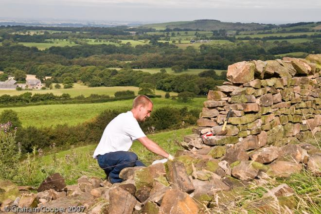 Dry stone walling image credit Graham Cooper