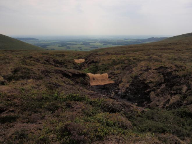 Newly restored gullies on Fiendsdale Head