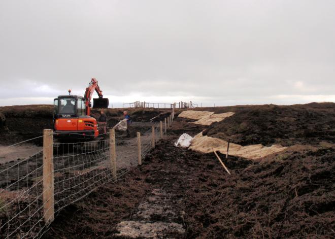 Peat restoration Fiensdale Head