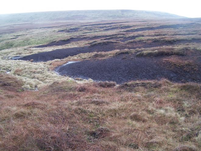 Bare peat on Holcolme Moor