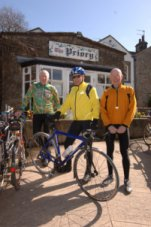 Cyclists at the Priory, Scorton