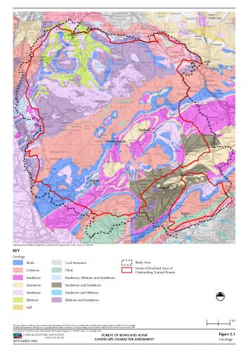 underlying geology of the Forest of Bowland
