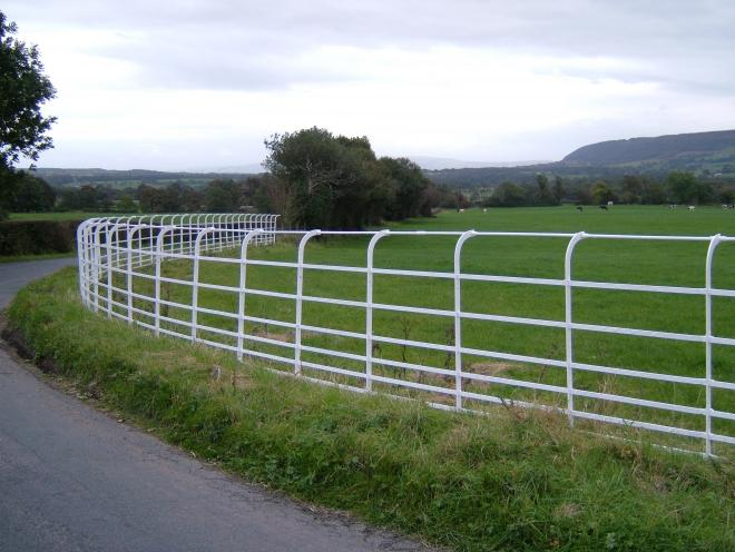 White railings at Chipping
