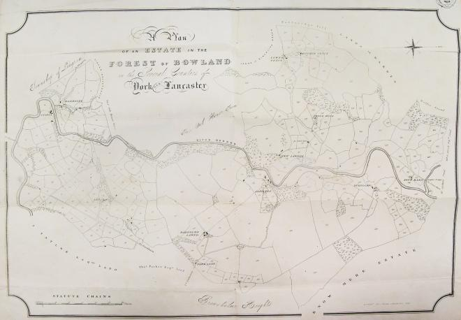 Map of Radholme, by J. Binns of Lancaster, dated 1835 (LRO DDB 74/37) reproduced by kind permission of Lancashire Archives and Robert Parker, DL, of Browsholme Hall
