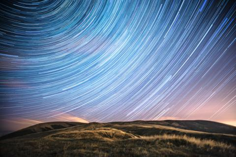 Pendle Star Trails by Matthew Savage